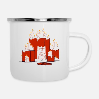 Cult cult cat - Enamel Mug