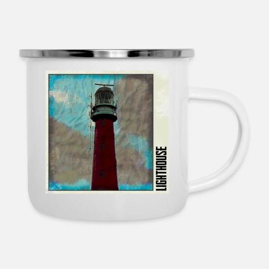 Harbour Mugs & Drinkware - lighthouse - Enamel Mug white