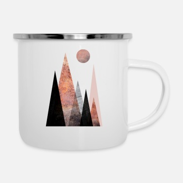 Scene Nordic Mountain Scene, Beautiful mountain scene - Enamel Mug
