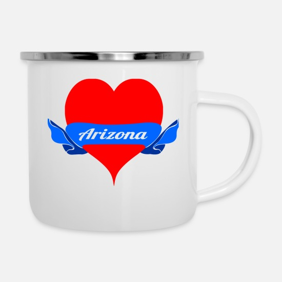 Usa Mugs & Drinkware - T-Shirt Arizona - I love Arizona - Enamel Mug white