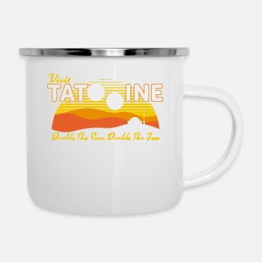 Double Double the Sun Double the Fun - Enamel Mug