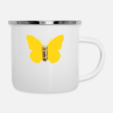 Request BUTTER FLY REQUEST - Enamel Mug