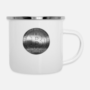 Currency crypto economics currency bitcoin - Enamel Mug