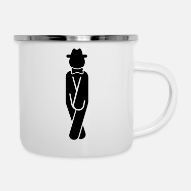 Man in Need of Restroom (1c) - Enamel Mug