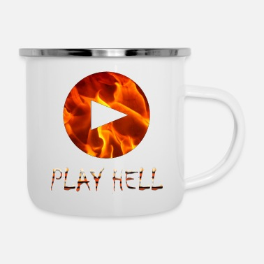 Playing Play Hell Play Hard - Enamel Mug