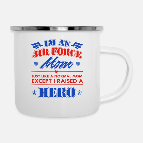 Airforce Mugs & Drinkware - Airforce Mom - Enamel Mug white