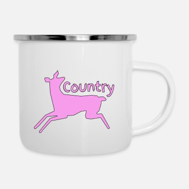 Country Girl Country ( Pink Country ) - Enamel Mug