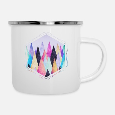 Nature Collection Hipster triangles (geometry) Abstract Mountains - Enamel Mug