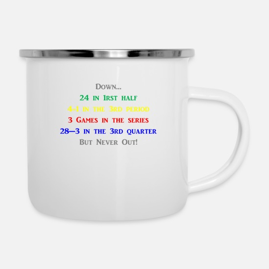 Downhill Mugs & Drinkware - Down but not out - Enamel Mug white