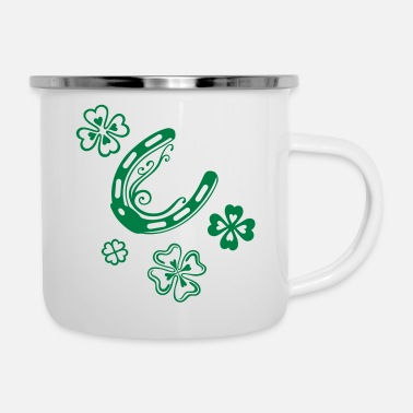Horseshoe Horseshoes with clover leaves - Camper Mug