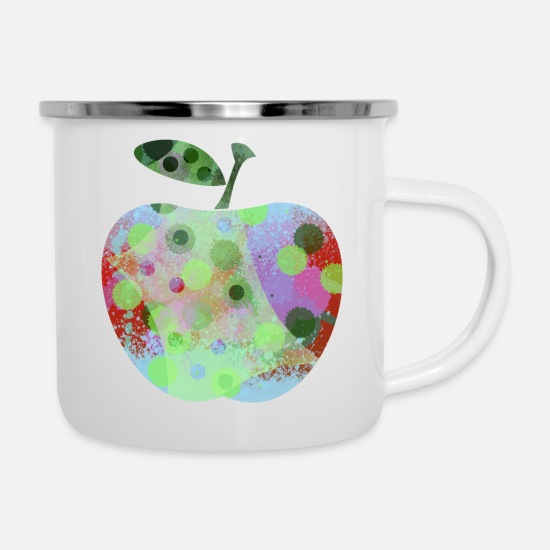 Homedecor Mugs & Drinkware - Apple Joy - Enamel Mug white