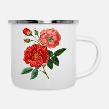 Homedecor Red Rose Perfect Gift Idea - Enamel Mug