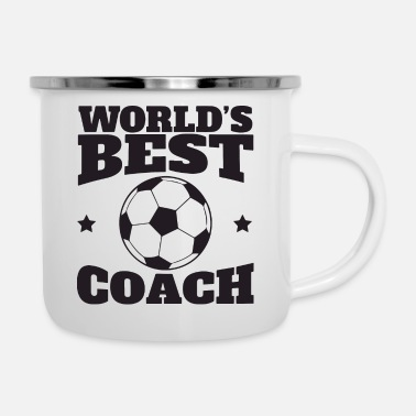 Playing worlds best coach - Enamel Mug