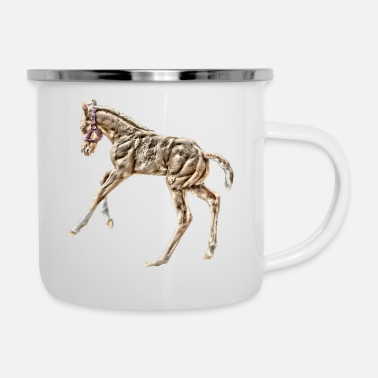 Foal Horse foal playing - Camper Mug