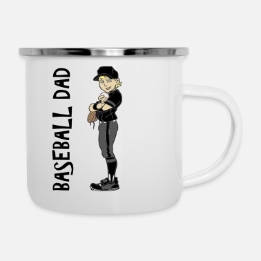BASEBALL DAD - Enamel Mug
