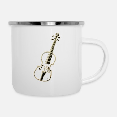 Violin Golden Violin - Enamel Mug