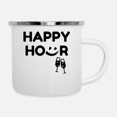 Happy Hour Funny Happy Hour - Enamel Mug