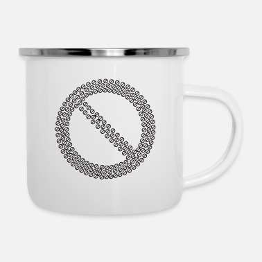 Prohibited Prohibited No Sign Fracta - Enamel Mug