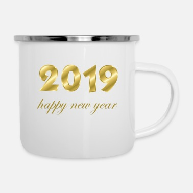 Production Year happy new year 2019 products - Enamel Mug