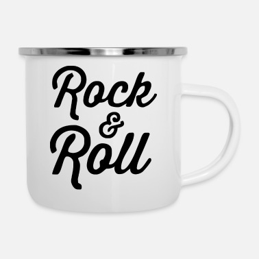 Rock And Roll Rock And Roll - Enamel Mug