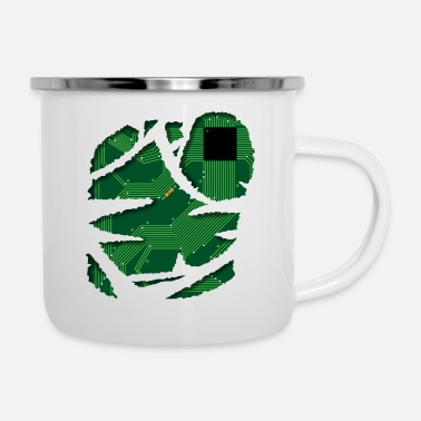 Circuit Board Technics CPU Shirt Robot Design Gift - Enamel Mug