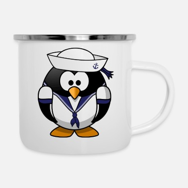 Patriot Sailor Penguin - Enamel Mug