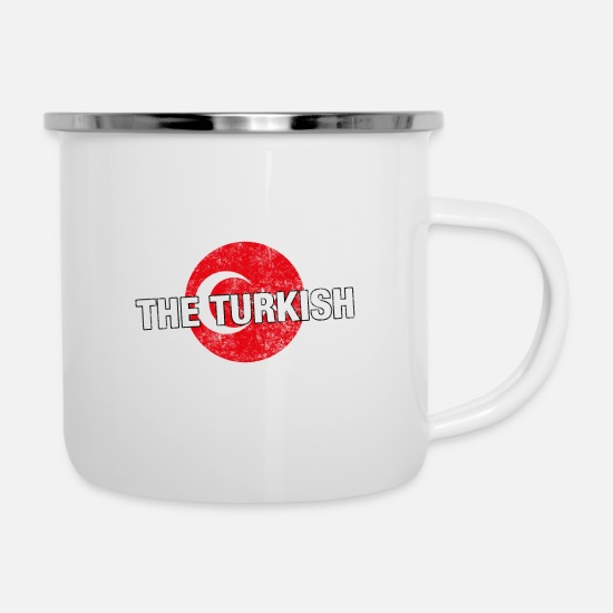 Fear Mugs & Drinkware - Have No Fear The Turkish Is Here - Enamel Mug white