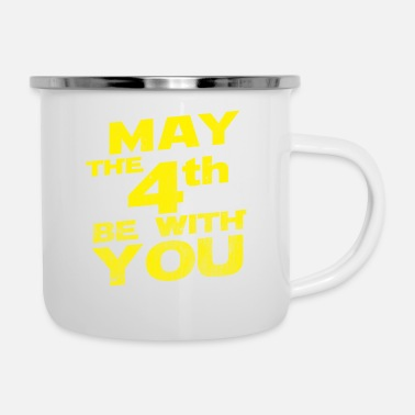 May The 4th Be With You Distressed - Enamel Mug