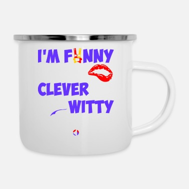 Witty Im Funny Sexy Clever And Witty Im Korean - Camper Mug