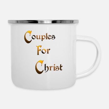 Quotes Couples Couples for Christ - Enamel Mug