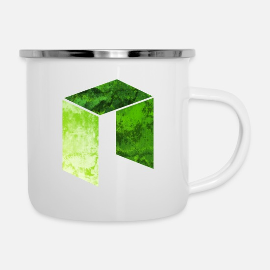 Prime Mugs & Drinkware - Crypto T-shirt Cryptocurrency NEO t-shirt NEO coin - Enamel Mug white