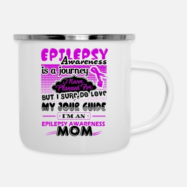 Mom Epilepsy Awareness Mom Mug - Enamel Mug