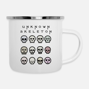 Unknown Skeleton Neutral Skulls - Enamel Mug