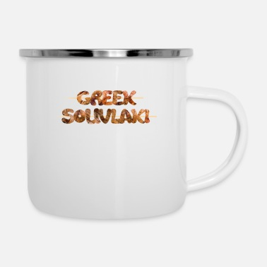 Greek Letters Greek souvlaki - Funny souvlaki - Greek food - Enamel Mug