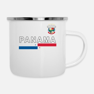 Sporty Panama sporty national design - Enamel Mug