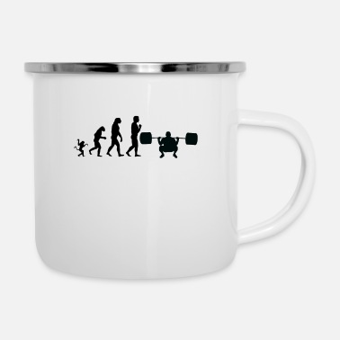 Weights weight lifting evolution, #weight lifting - Enamel Mug