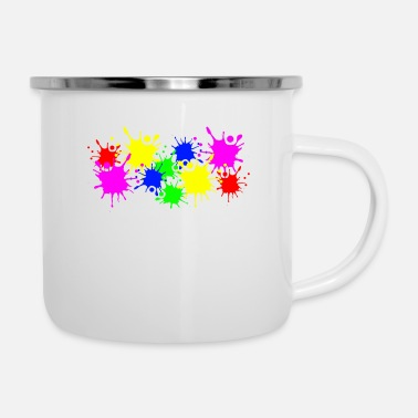 Color Splashes of color splashes of color color color du - Enamel Mug