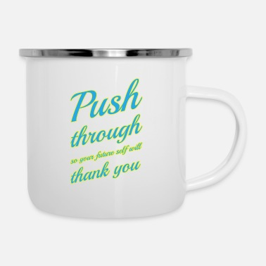 Self Improvement Self improvement Motivation Shirt - Enamel Mug
