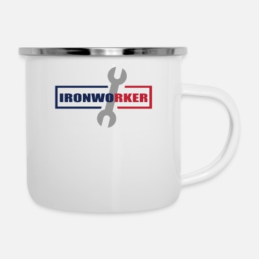 Red White And Blue Ironworker Red White Blue - Camper Mug