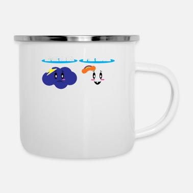 Before Shower After Shower - Enamel Mug