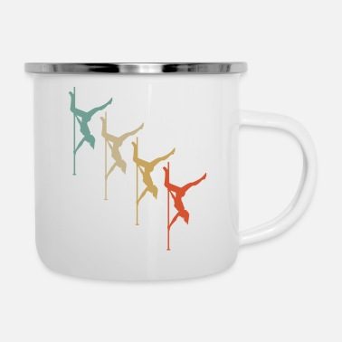 Guys Night Out Retro Vintage Style Pole Dance Dancing Dancer - Enamel Mug