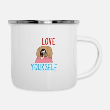 Self Improvement Learning To Love Yourself Self Confidence Self - Enamel Mug