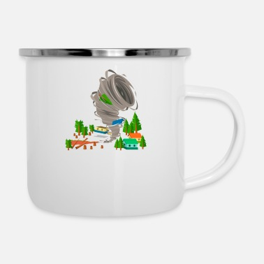 Severe Weather Awesome Tornado Severe Weather Storm Chasers - Enamel Mug