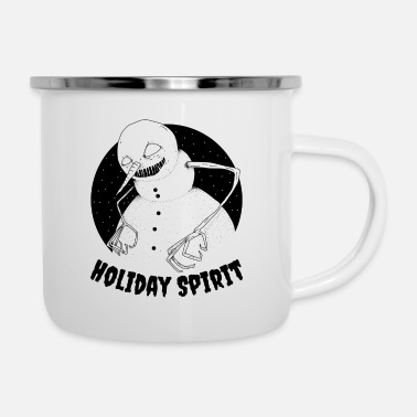Holiday Spirit | Creepy Xmas Snowman - Camper Mug