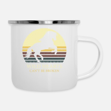 Horseshoe WILD HEARTS CAN't BE BROKEN retro - Camper Mug
