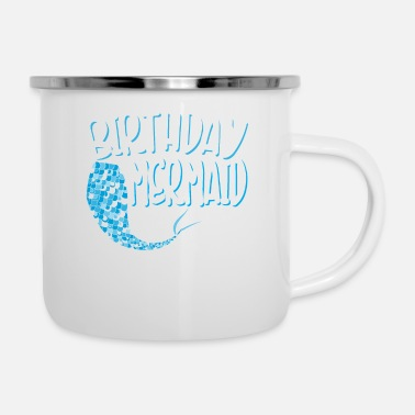 Explosion Birthday Mermaid Merman Mammal Gift - Camper Mug