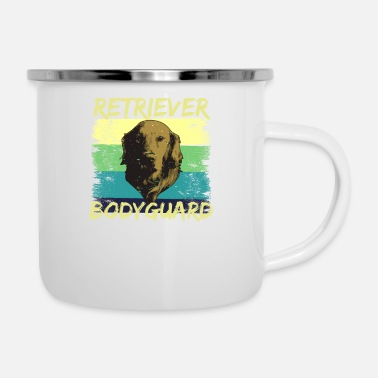 Retriever Retriever Bodyguard, Golden Retriever - Enamel Mug