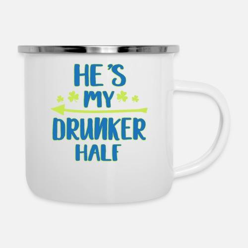 3ca5d2fb87 Enamel MugFunny He's My Drunker Half St Patrick's Day Clover. Tronic Tees