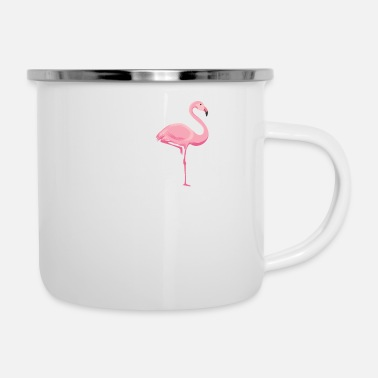Recreational Flamingo gift beach summer sun - Enamel Mug
