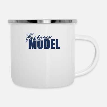 Model Top Model Modeling Fashion Model Catwalk Modeling - Enamel Mug
